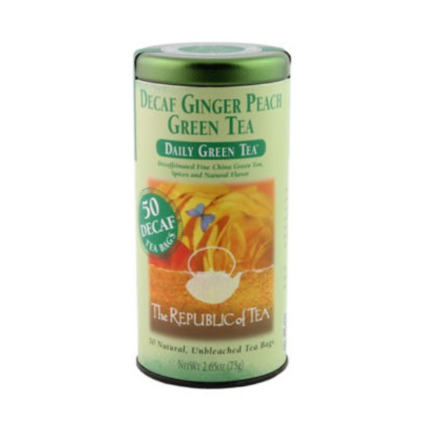 The Republic of Tea Decaf Ginger Peach Green Tea Bags