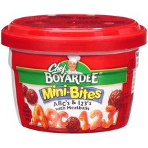 Chef Boyardee Mini-Bites ABC's & 123's Pasta With Meatballs