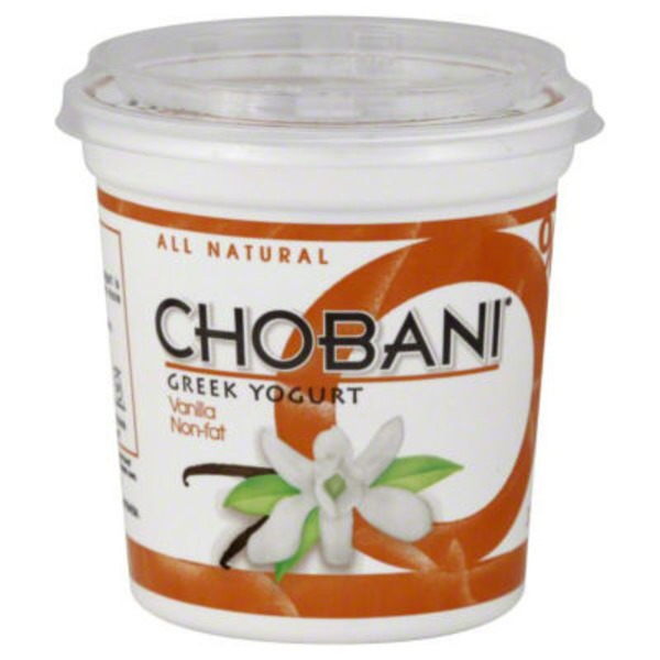 Chobani Non-Fat Greek Yogurt, Vanilla Blended