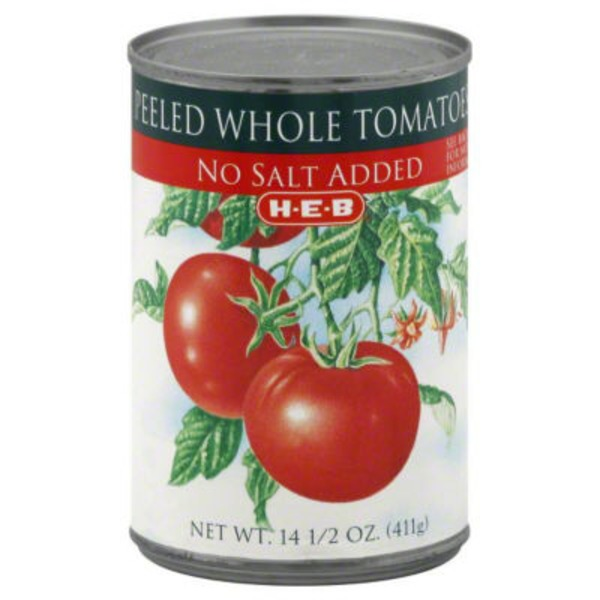 H-E-B Peeled Whole Tomatoes No Salt Added