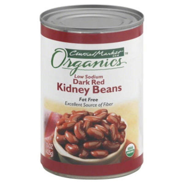 Central Market Fat Free Low Sodium Dark Red Kidney Beans