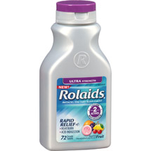 Rolaids Ultra Strength Fruit Antacid/Dietary Supplement Tablets