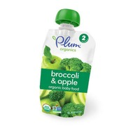 Plum Organics Broccoli & Apple Stage 2 Baby Food
