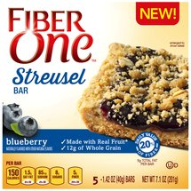 Fiber One Blueberry Streusel Bars