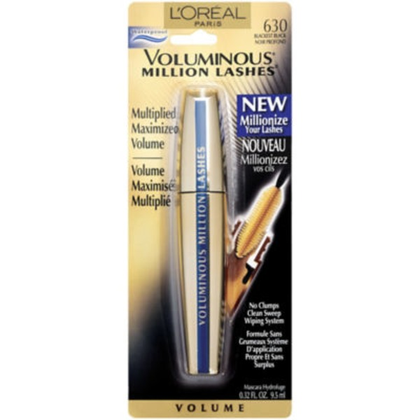 Voluminous Million Lashes 630 Blackest Black Waterproof Mascara