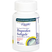Equate Ibuprofen Softgels 200 Mg Pain Reliever/Fever Reducer -