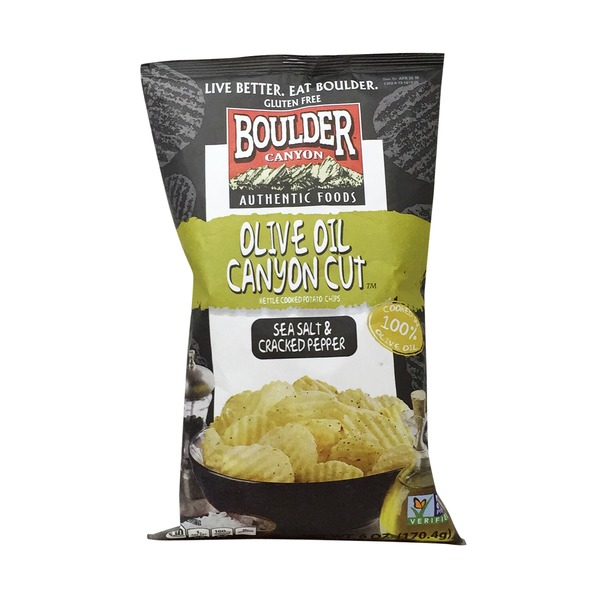 Boulder Canyon Olive Oil Canyon Cut, Sea Salt & Cracked Pepper Potato Chips