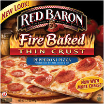 Red Baron Fire Baked Thin Crust Pepperoni Pizza