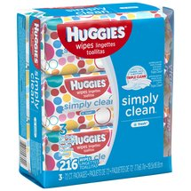 HUGGIES Simply Clean Fresh Baby Wipes (Pack of 3)