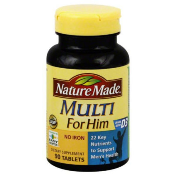 Nature Made Multi For Him No Iron - 90 CT