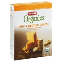 H-E-B Organics Mini Cheddar Cheese Sandwich Crackers