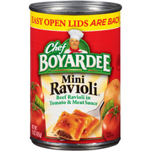 Chef Boyardee Mini In Tomato & Meat Sauce Beef Ravioli