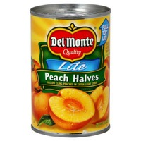 Del Monte Lite Yellow Cling in Extra Light Syrup Peach Halves