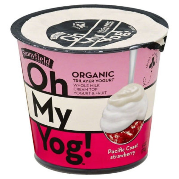 Stonyfield Organic Organic Oh My Yog! Pacific Coast Strawberry Yogurt