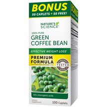 Nature's Science 100% Pure Green Coffee Bean Dietary Supplement Caplets