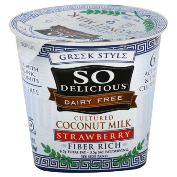 So Delicious Greek Style Dairy Free Strawberry Coconut Milk