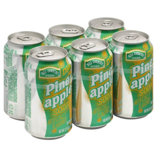 Hill Country Fare Diet Pineapple Soda