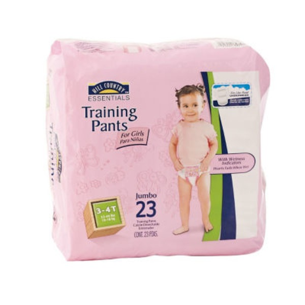 Hill Country Essentials Training Pants For Girls Jumbo Pack Size 3 4 T