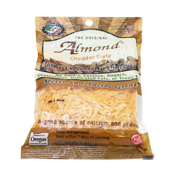 Lisanatti Foods Almond Cheddar Style Shredded Cheese Alternative