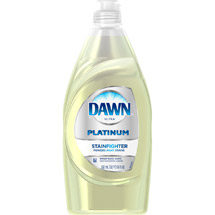 Dawn Ultra Platinum StainFighter Lemon Burst Scent Dishwashing Liquid