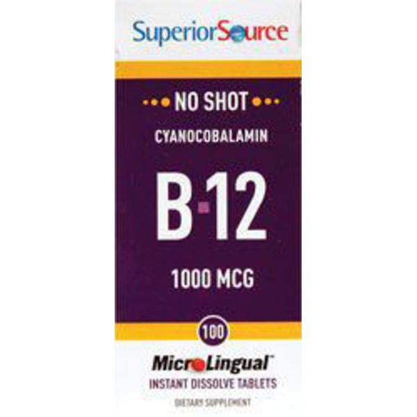 Superior Source Cyanocobalamin B 12 1000 Mcg