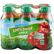 Great Value 100% Apple Juice 6 Ct/60 Oz