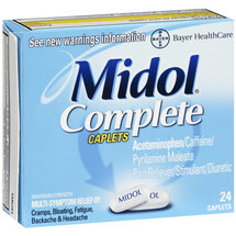 Midol Complete Maximum Strength Pain Reliever/Stimulant/Diuretic Caplets