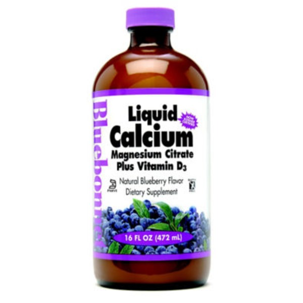 Bluebonnet Nutrition Calcium Magnesium Citrate Plus Vitamin D3 Liquid