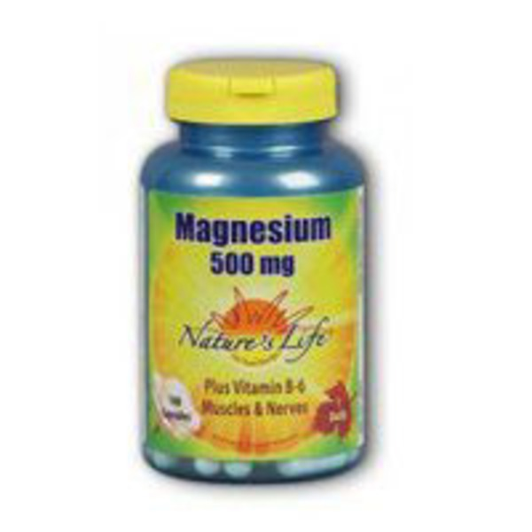 Nature's Life Magnesium 500 mg Plus Vitamin B6 Muscles And Nerves 1 daily capsules