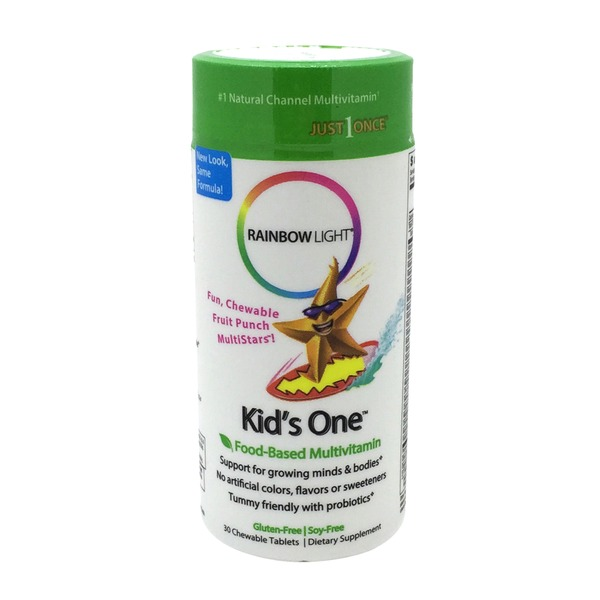 Rainbow Light Kid's One Food-Based Multivitamin Chewable Tablets Dietary Supplement - 30 CT