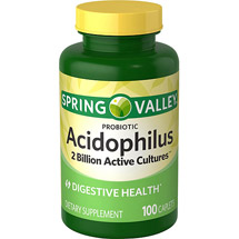 Spring Valley Probiotic Acidophilus Dietary Supplement Caplets