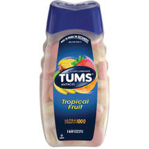 Tums Ultra 1000 Maximum Strength Value Size Assorted Tropical Fruit Antacid/Calcium Supplement