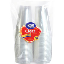 Great Value 16 oz Clear Cups