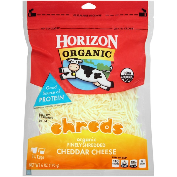 Horizon Organic Shreds Finely Shredded Cheddar Cheese