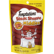 Temptations Steak Shoppe Middles Steak and Chicken Flavor Treats for Cats