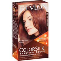 Revlon Colorsilk Beautiful Color Permanent Hair Color 55 Light Reddish Brown