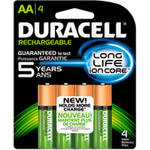 Duracell Rechargeable AA Pre-Charged Batteries