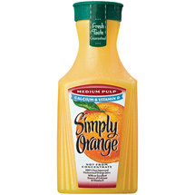 Simply Orange ctry Stand Medium Pulp With Calcium Orange Juice