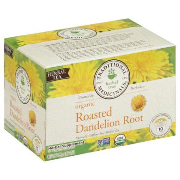 Traditional Medicinals Herbal Teas Organic Roasted Dandelion Root Cups - 10 CT