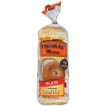 Thomas' Pre-Sliced Plain Bagels