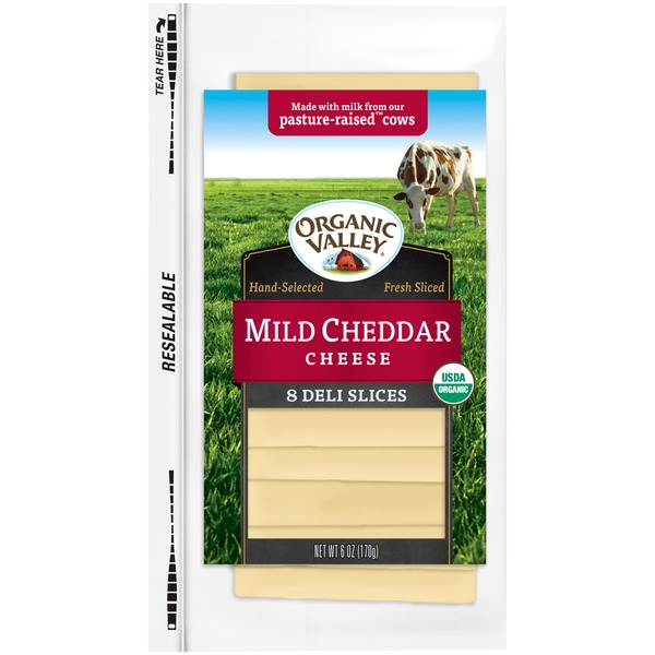 Organic Valley Mild Cheddar Slices Cheese