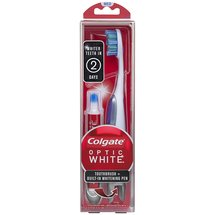 Colgate Optic White Medium Toothbrush + Built-In Whitening Pen