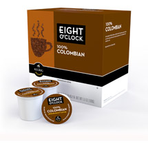 Eight O'Clock 100% Colombian K-Cups Coffee