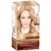 L'Oreal Paris Excellence Age Perfect Layered-Tone Flattering Color Kit 8N Medium Natural Blonde
