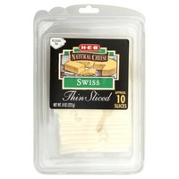 H-E-B Natural Swiss Thin Sliced
