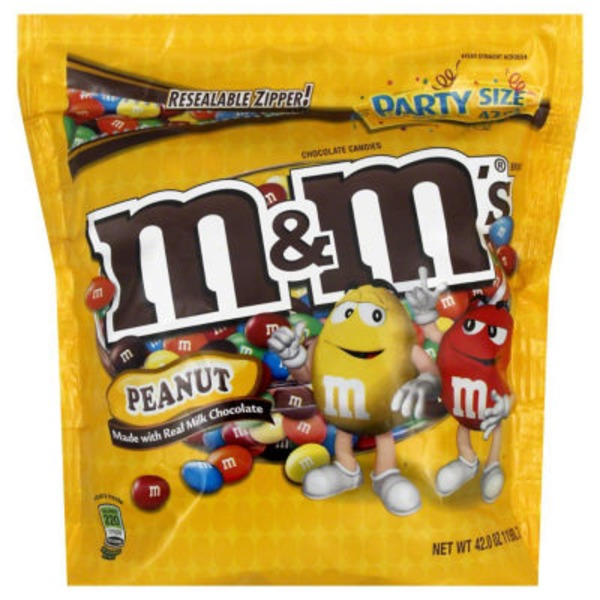 M&M's Peanut Chocolate Candy Party Size 42-oz. Bag