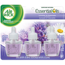 Air Wick Scented Oil Air Freshener with Essential Oils Triple Pack Lavender & Chamomile