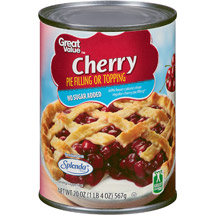 Great Value No Sugar Added Cherry Pie Filling