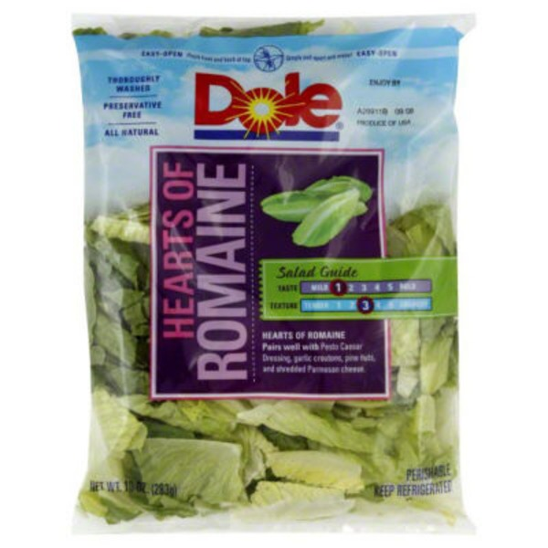 Dole Salad Hearts of Romaine