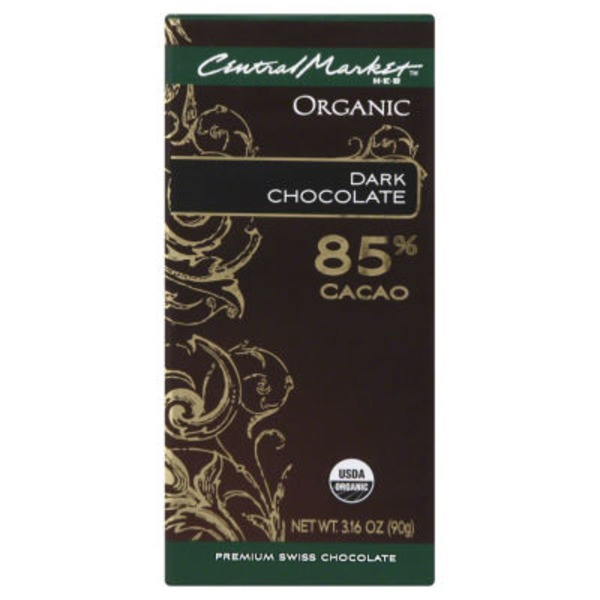 H-E-B Central Market Organic 85% Dark Chocolate Bar